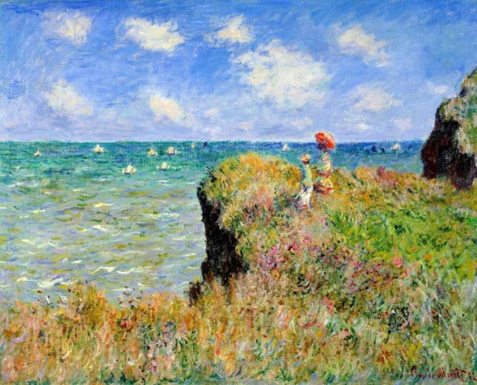 Claude Monet Painting of the Alabaster Coast, Normandie France