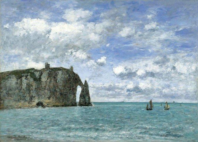 Etretat : Eugene Boudin painting