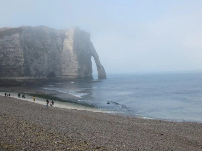 Etretat Cliffs on the coast of Normandy and the subject of many of Monet's paintings