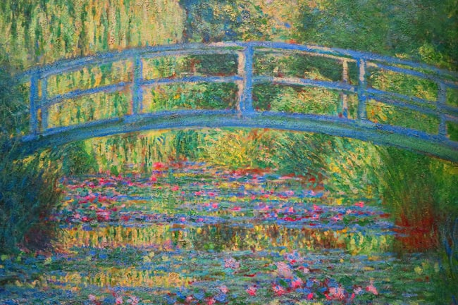 Claude Monet Bridge Painting - Japonisme style