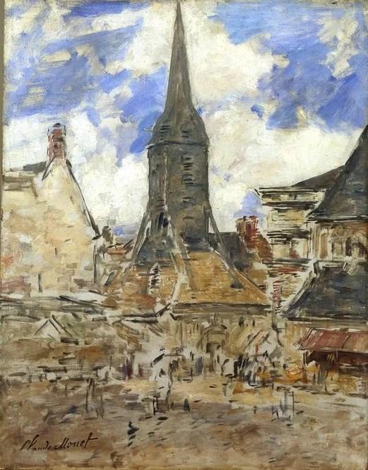 Honfleur landscape painted by Claude Monet