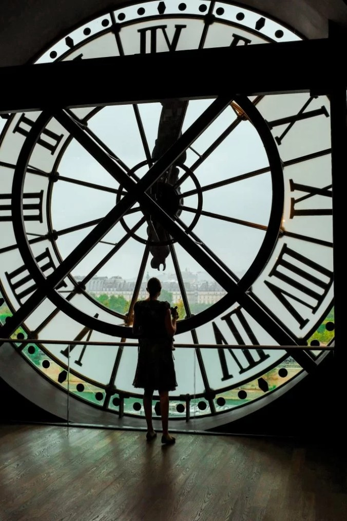 The famous view from the clock window at Musee D'Orsay