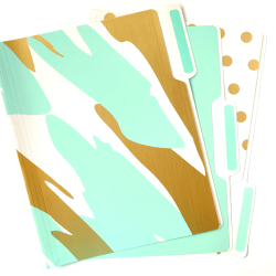Mint-White-Gold-File-Folders