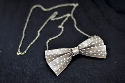 I Try DIY | CandyMag.Com: Paper Bow Tie Necklace
