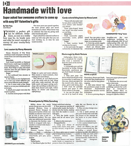 I Try DIY   Philippine Daily Inquirer: Handmade with love
