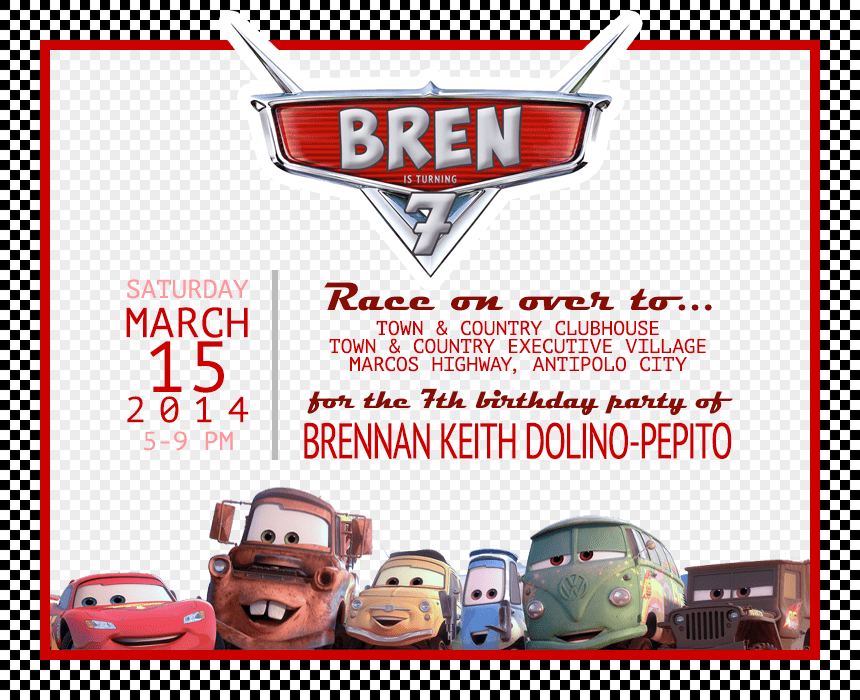 Brens disney cars 7th birthday party i try diy i try diy brens disney cars 7th birthday party solutioingenieria Image collections