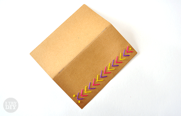 I Try DIY   Decorate your Notebook with Paper Stitching