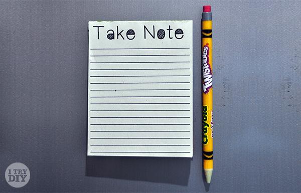 I Try DIY | DIY Notepads