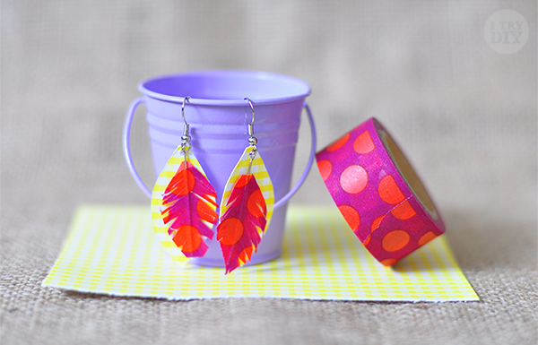 Feather and Paper Earrings | Washi Tape Ideas | Creative Ways To Use Washi Tape