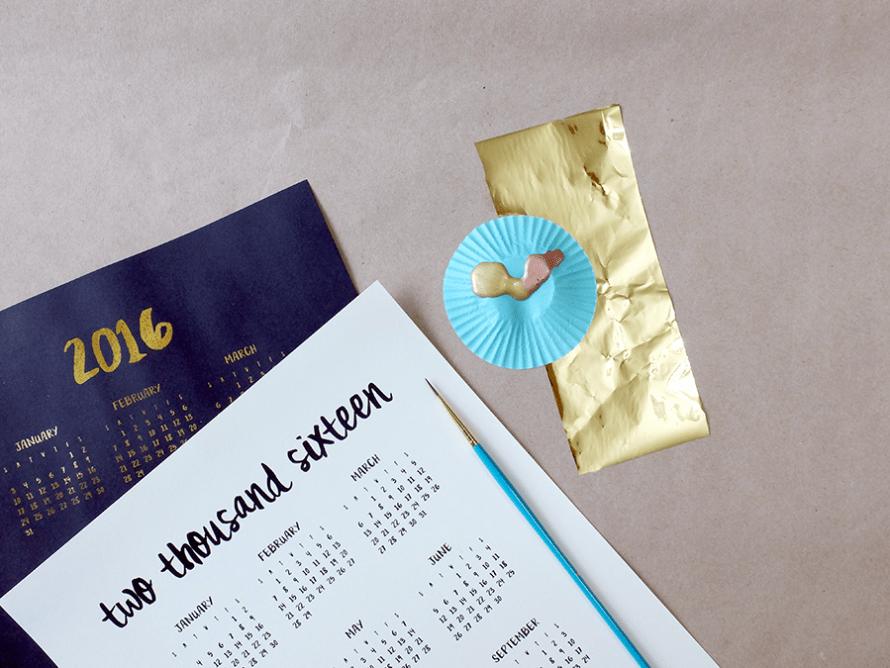 I Try DIY | 2016 Calendar