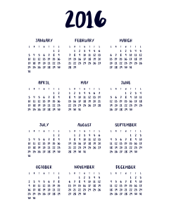I Try DIY   2016 Calendar
