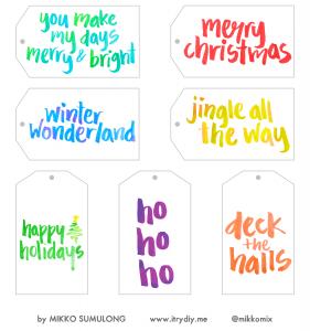 I Try DIY | Christmas Gift Tags Printable