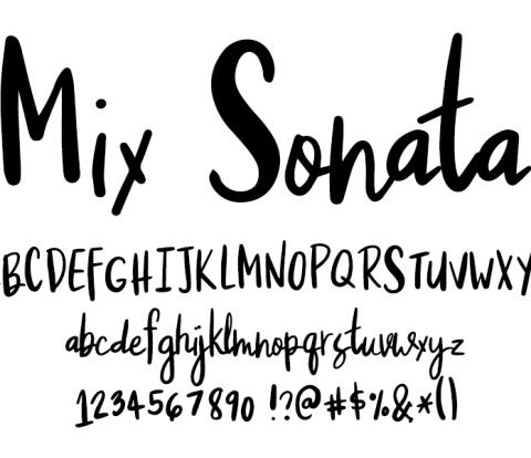 Fonts by Mikko Sumulong - Mix Sonata