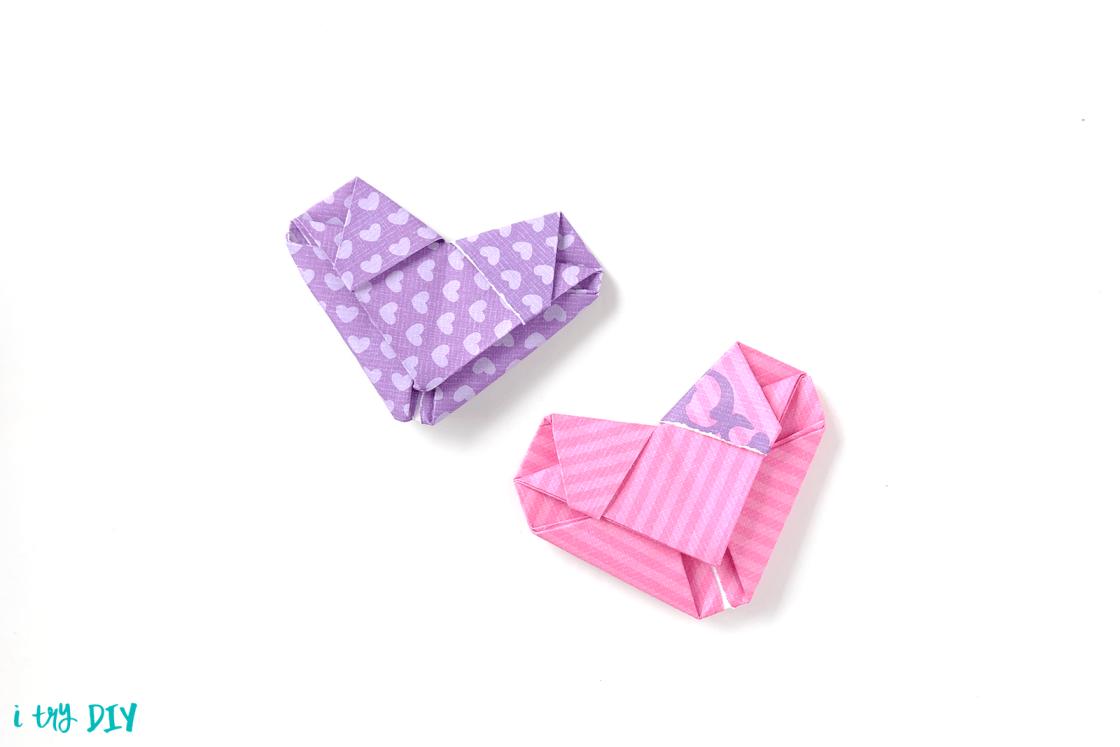 I Try DIY   Origami Heart Video Tutorial
