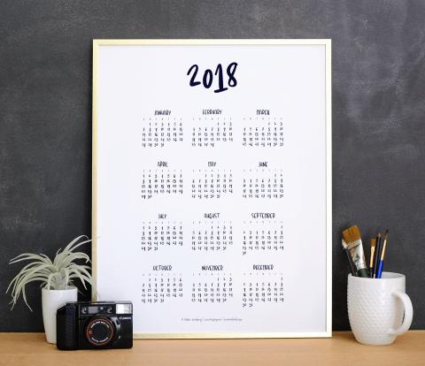 2018 Calendar by Mikko Sumulong