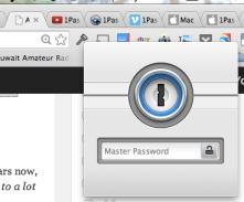 1 password Browser Plugin