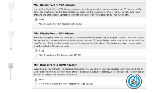 Apple Macbook Air Screen Adapter
