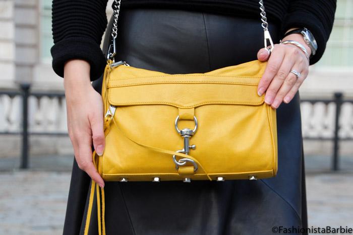 Braun Silk-Epil 5, braunbeautychallenge, braun, style post, fashionista barbie, leather skirt, black,yellow bag,rebecca minkoff