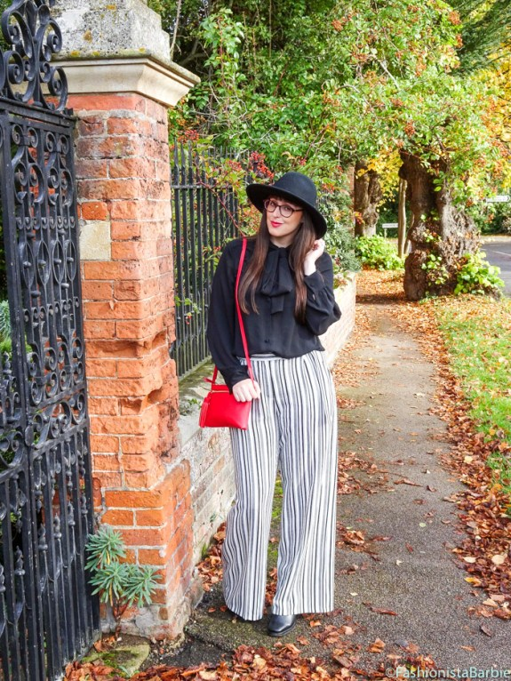 Wide-Leg Trousers, asos,gap,wolf & whistle,pussy-bow blouse, retro, trousers, hat, glasses, style post, fashionista barbie, fashion, style, styling tips, trend