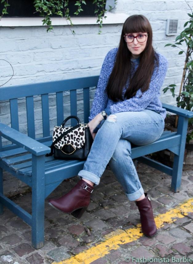 uniform, ripped jeans, style post, top uk fashion blogger, top blogger, fashion blogger, fashionista barbie, next, gap, H&M, lulu guinness, london, asos