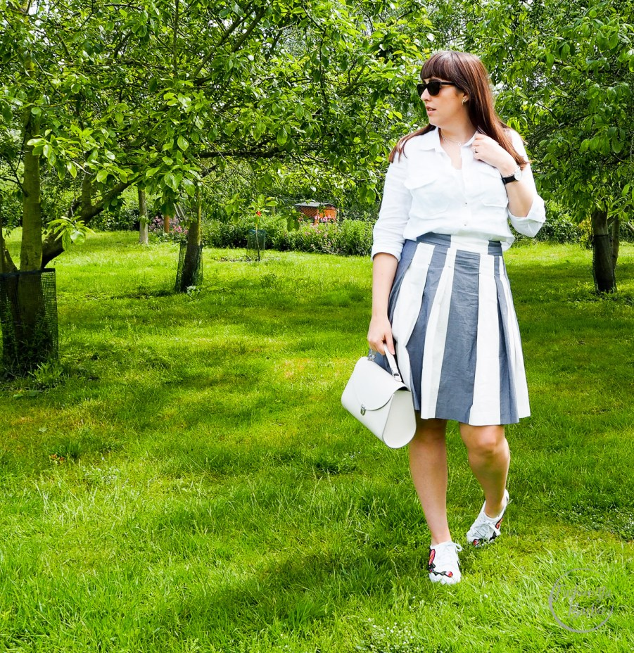 white shirt, summer style, next, boden, ego, cambridge satchel company, fashionista barbie, summer, stripes, fashion blogger, style blogger, uk blogger