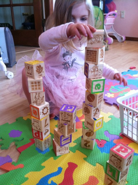 building block towers-family-life