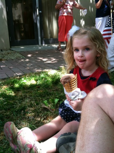 Tiny-Small and the giant ice cream cone.