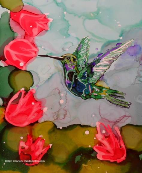 Humming Bird Painting.