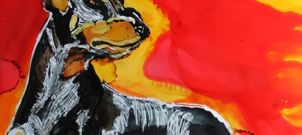 Doberman Pinscher Day 20 In 30 Paintings In 30 Days by Lillian Connelly
