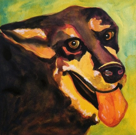 "German Shepherd ""Buck"" Day 23 of 30 Paintings In 30 Days"