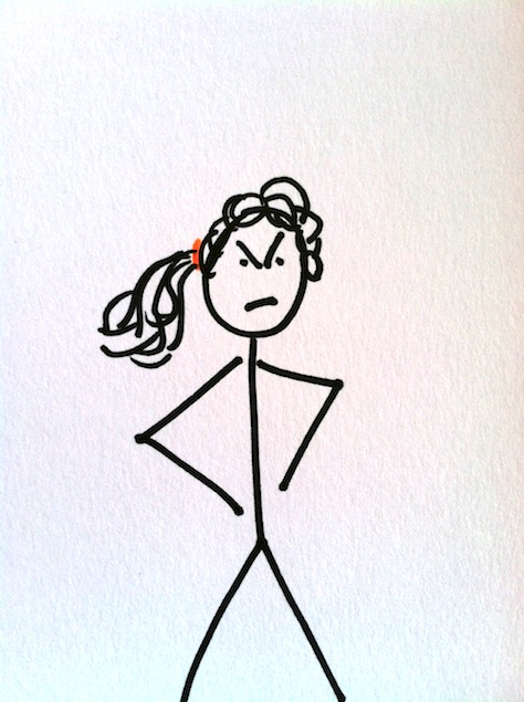 Stickman Drawing Challenge Day 15: Angry