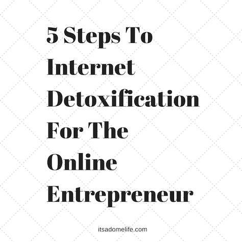 5 Steps To Internet Detoxification For The Internet Enterpreneur