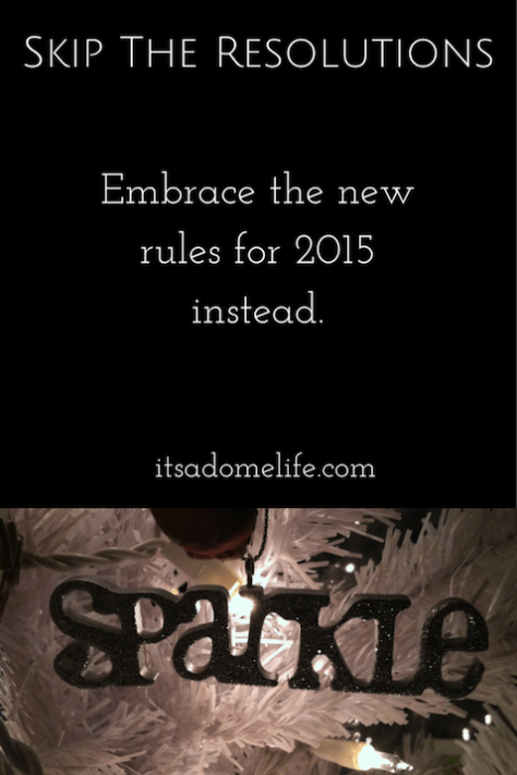 New Rules For 2015