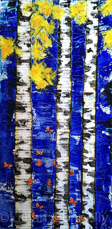 Birch Trees and Butterflies