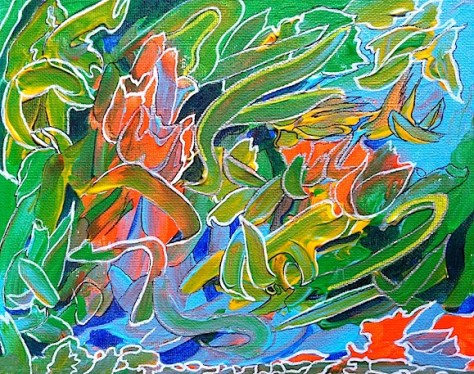 Tulip Garden Day 8 Of 30 Paintings In 30 Days