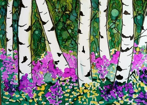 Birch Trees In Spring Day 11 of 30 Paintings In 30 Days