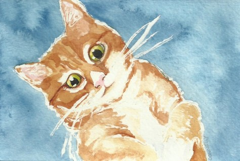 Cats Painted In Watercolor Day 7 September 2016