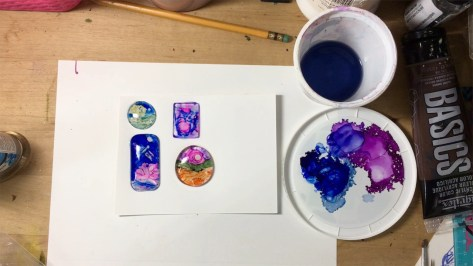 Alcohol Ink Glass Pendant Demo