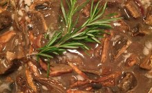 mushroom gravy rosemary sprig