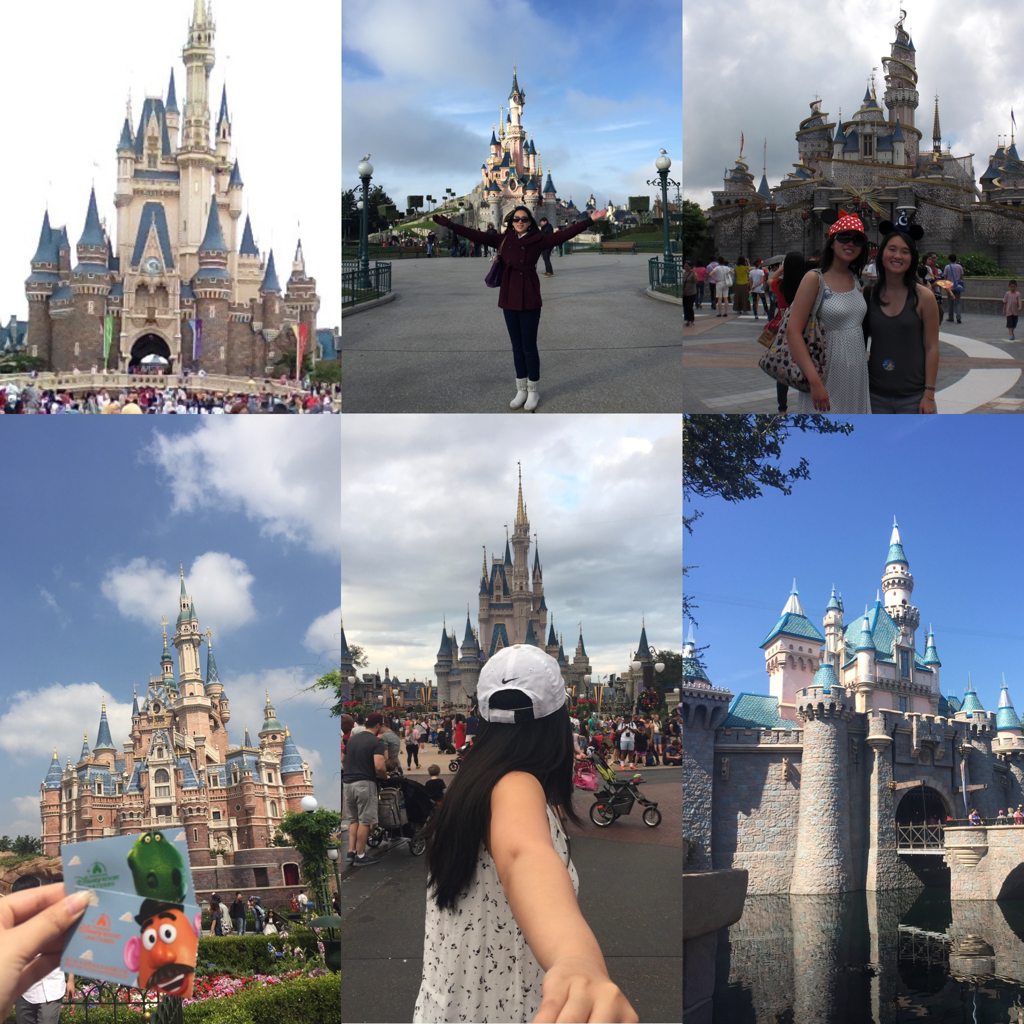 my travel buddy and me at disney parks all over the world