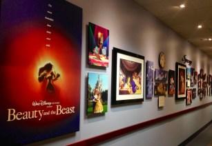 Beauty and The Beast wall at Disney University!
