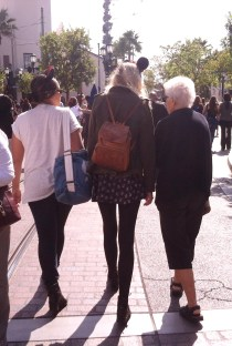 Disneyland Tourists, grandmother grandaughter