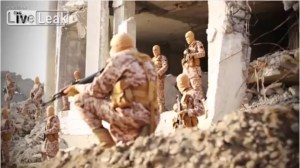 ISIS gunmen watch the pilot burn to death