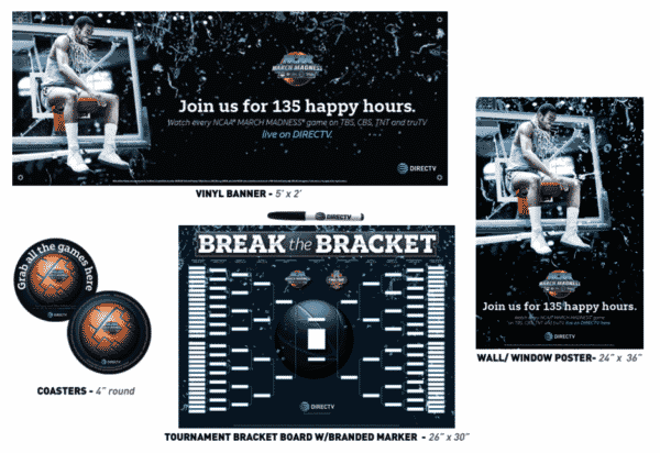 DIRECTV MVP Marketing NCAA Basketball March Madness Promotional Kit