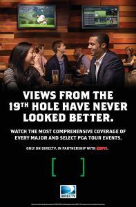 DIRECTV MVP Marketing Golf Poster