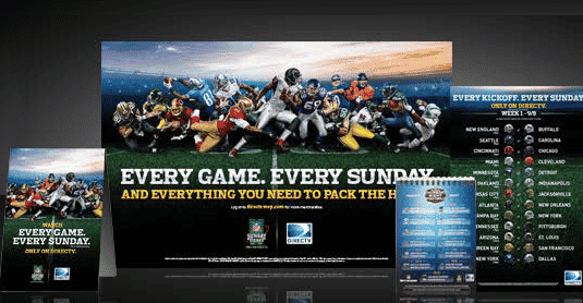 NFL Sunday Ticket Marketing Kit from DIRECTV