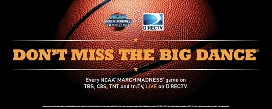NCAA March Madness Marketing Kit Banner for Bars & Restaurants from DIRECTV