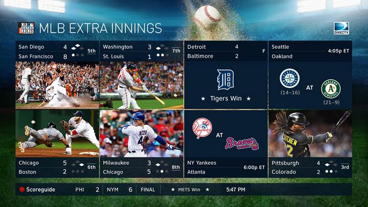MLB Extra Innings Mix Channel - Only on DIRECTV