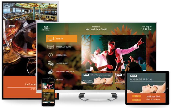 DIRECTV Guest Welcome Screen PRO and UIEvolution Experience Manager for the DIRECTV Residential Experience for Hotels and the COM2000