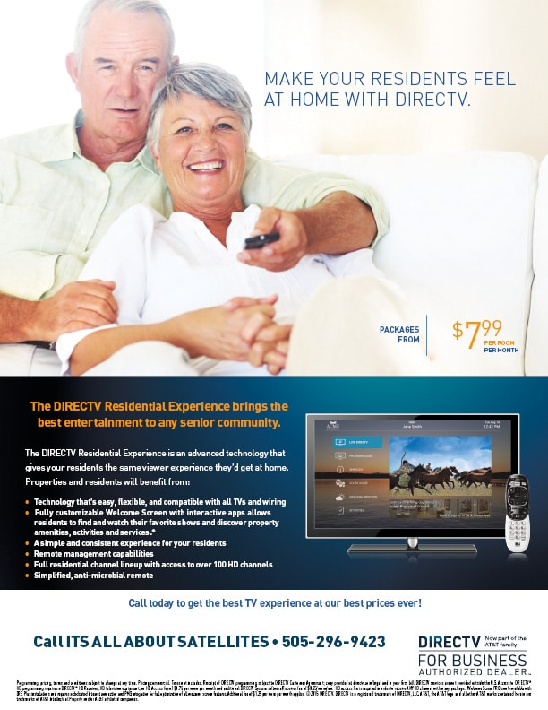 DIRECTV for Assisted Living with Guest Welcome Screen Pro